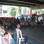 Las familias del refugio de la junta parroquial de San Juan