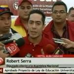 Diputado Robert Serra